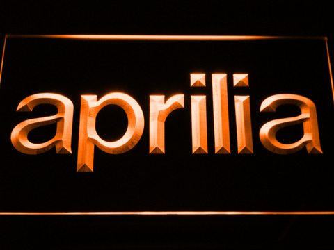 Image of Aprilia LED Neon Sign - Orange - SafeSpecial