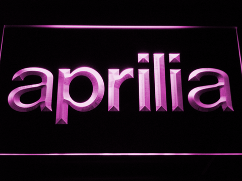 Aprilia LED Neon Sign - Purple - SafeSpecial