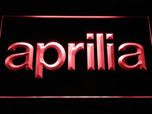 Aprilia LED Neon Sign - Red - SafeSpecial