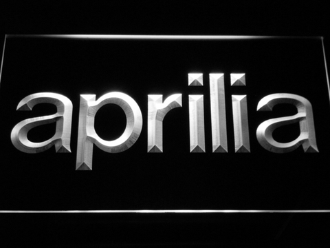 Aprilia LED Neon Sign - White - SafeSpecial
