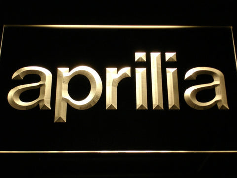 Aprilia LED Neon Sign - Yellow - SafeSpecial