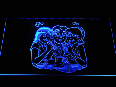 Archie Archie, Betty, and Veronica LED Neon Sign - Blue - SafeSpecial