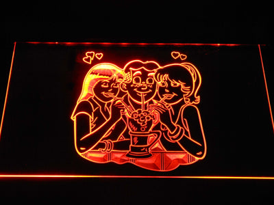 Archie Archie, Betty, and Veronica LED Neon Sign - Orange - SafeSpecial