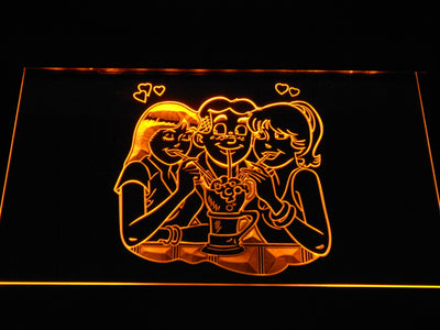 Archie Archie, Betty, and Veronica LED Neon Sign - Yellow - SafeSpecial
