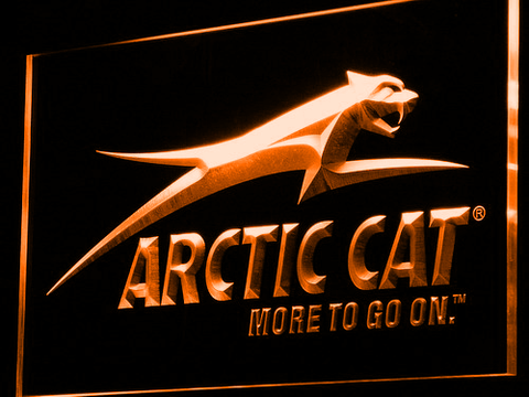 Image of Arctic Cat All Terrain LED Neon Sign - Orange - SafeSpecial