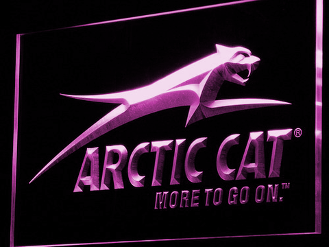 Image of Arctic Cat All Terrain LED Neon Sign - Purple - SafeSpecial