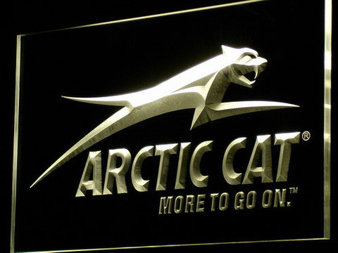 Image of Arctic Cat All Terrain LED Neon Sign - Yellow - SafeSpecial