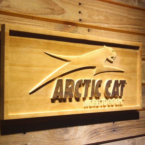 Image of Arctic Cat All Terrain Wooden Sign - - SafeSpecial