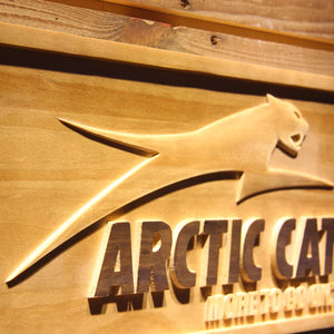 Arctic Cat All Terrain Wooden Sign - - SafeSpecial
