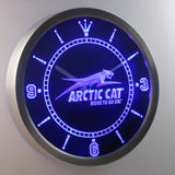 Arctic Cat LED Neon Wall Clock - Blue - SafeSpecial