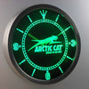 Arctic Cat LED Neon Wall Clock - Green - SafeSpecial