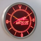 Arctic Cat LED Neon Wall Clock - Red - SafeSpecial