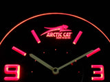 Arctic Cat Modern LED Neon Wall Clock - Red - SafeSpecial