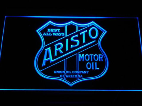 Aristo Motor Oil LED Neon Sign - Blue - SafeSpecial
