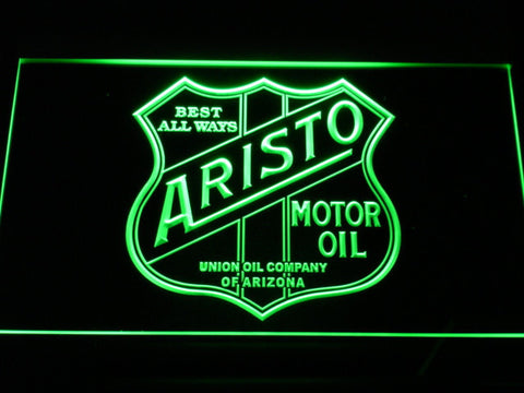 Aristo Motor Oil LED Neon Sign - Green - SafeSpecial