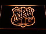 Aristo Motor Oil LED Neon Sign - Orange - SafeSpecial