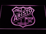 Aristo Motor Oil LED Neon Sign - Purple - SafeSpecial