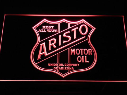 Aristo Motor Oil LED Neon Sign - Red - SafeSpecial
