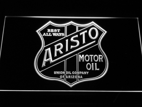 Aristo Motor Oil LED Neon Sign - White - SafeSpecial