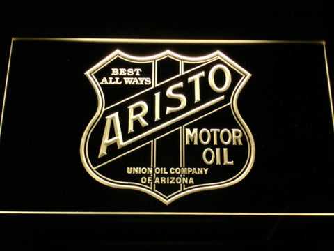 Aristo Motor Oil LED Neon Sign - Yellow - SafeSpecial