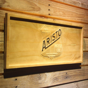 Aristo Motor Oil Wooden Sign - - SafeSpecial