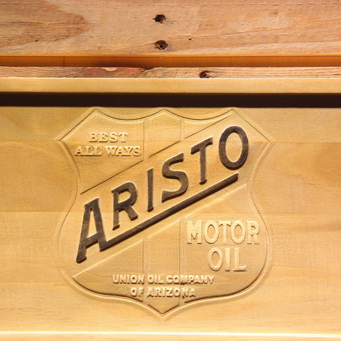 Image of Aristo Motor Oil Wooden Sign - - SafeSpecial