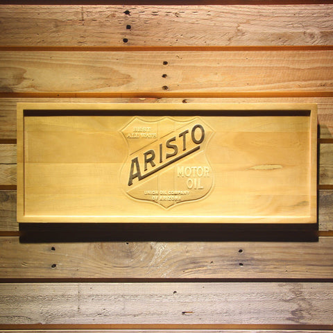 Image of Aristo Motor Oil Wooden Sign - Small - SafeSpecial