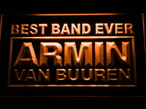 Armin Van Buuren Best Band Ever LED Neon Sign - Orange - SafeSpecial