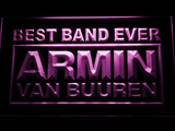 Armin Van Buuren Best Band Ever LED Neon Sign - Purple - SafeSpecial
