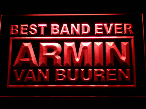 Armin Van Buuren Best Band Ever LED Neon Sign - Red - SafeSpecial