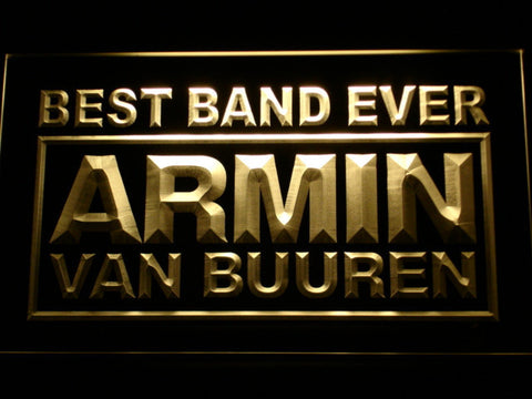 Armin Van Buuren Best Band Ever LED Neon Sign - Yellow - SafeSpecial