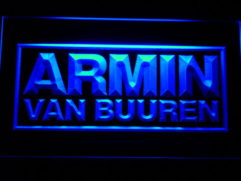 Armin Van Buuren LED Neon Sign - Blue - SafeSpecial