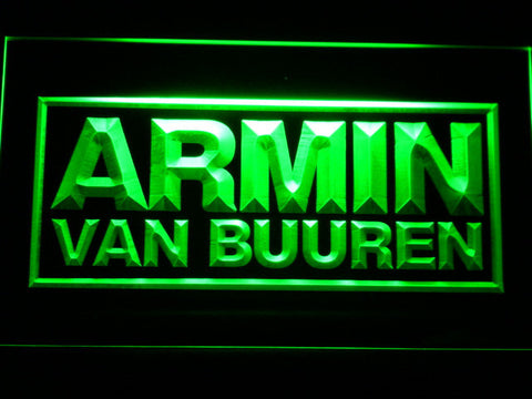 Armin Van Buuren LED Neon Sign - Green - SafeSpecial