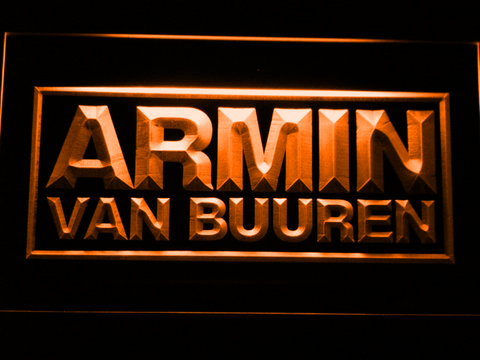 Armin Van Buuren LED Neon Sign - Orange - SafeSpecial