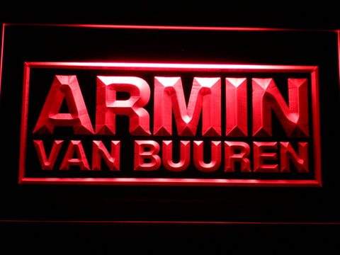 Armin Van Buuren LED Neon Sign - Red - SafeSpecial