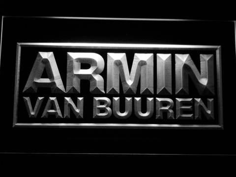 Armin Van Buuren LED Neon Sign - White - SafeSpecial