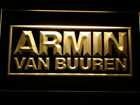 Armin Van Buuren LED Neon Sign - Yellow - SafeSpecial