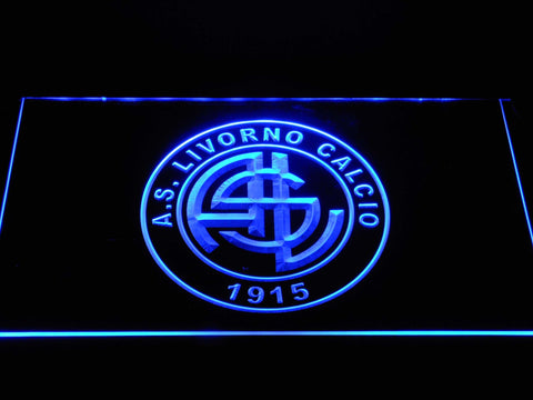 A.S. Livorno Calcio LED Neon Sign - Blue - SafeSpecial