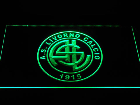 Image of A.S. Livorno Calcio LED Neon Sign - Green - SafeSpecial