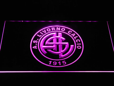 Image of A.S. Livorno Calcio LED Neon Sign - Purple - SafeSpecial