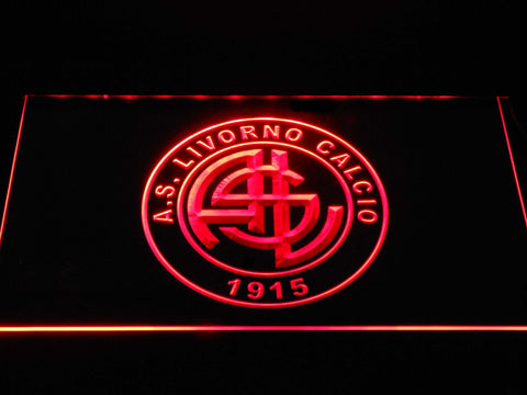 Image of A.S. Livorno Calcio LED Neon Sign - Red - SafeSpecial