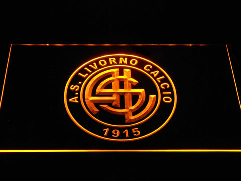 Image of A.S. Livorno Calcio LED Neon Sign - Yellow - SafeSpecial