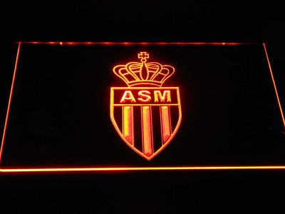 AS Monaco FC LED Neon Sign - Orange - SafeSpecial