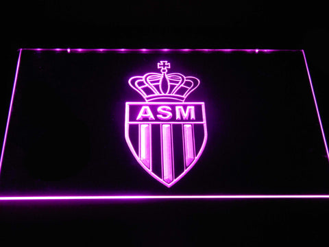 AS Monaco FC LED Neon Sign - Purple - SafeSpecial