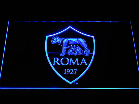 AS Roma LED Neon Sign - Blue - SafeSpecial