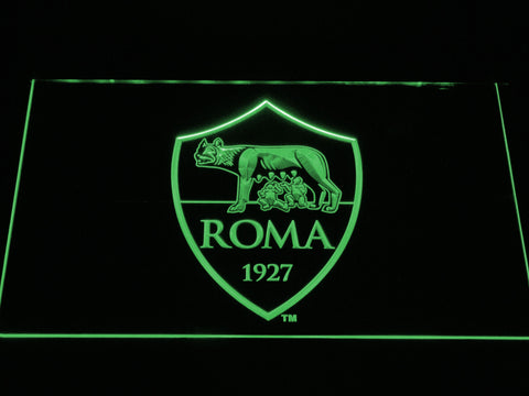 AS Roma LED Neon Sign - Green - SafeSpecial