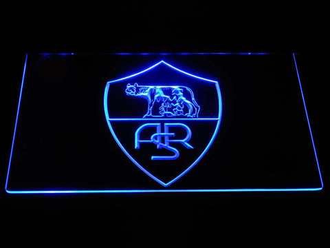 AS Roma LED Neon Sign - Legacy Edition - Blue - SafeSpecial