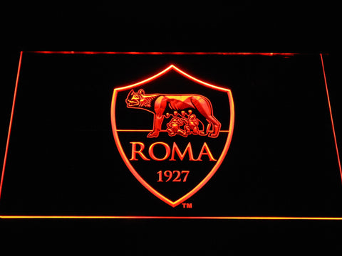AS Roma LED Neon Sign - Orange - SafeSpecial