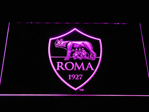 AS Roma LED Neon Sign - Purple - SafeSpecial