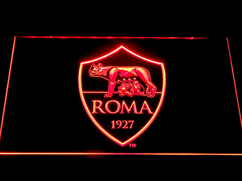 AS Roma LED Neon Sign - Red - SafeSpecial
